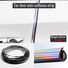 5M/10M Car Door Protector Anti-Collision Strip Bright Silver Edge Anti-Scratch Sticker chrome Trim Safety Seal Protection