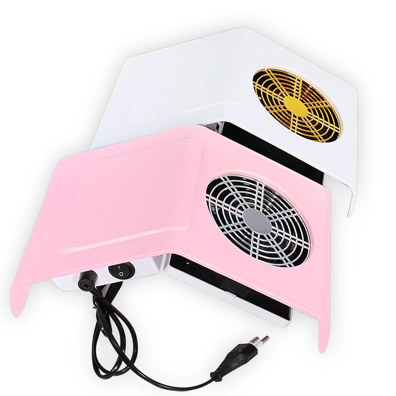 40W rose ou blanc ongles collecteur de poussière ongles aspiration ventilateur ongles poussière aspirateur Machine avec 2 poussière collecte sac Salon outils