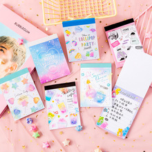 Note Paper Stationery Memo-Pad Office-Supplies Message-Notes Rainbow Cartoon Cute Kawaii