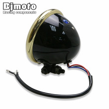купить Motorbike Waterproof 5 Custom LED Headlight Head Lamp for Harley Honda Yamaha Suzuki Kawasaki Chopper Bobber Cafe Racer Touring дешево
