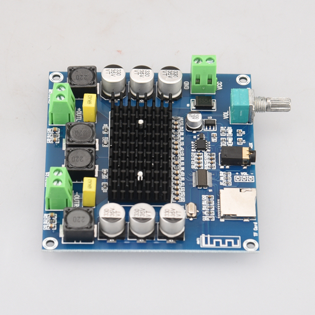 Цифровой усилитель HIFIDIY LIVE XH-A105 Bluetooth 5,0 TDA7498  2x100 Вт 6