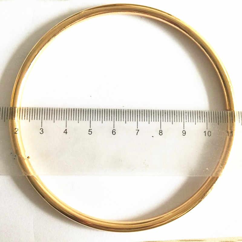 4 teile/los Große Runde 90mm O Ring 5mm dicke GOLD Überzogene Rucksack Kragen Harness Ring DIY handgemachte Tasche teile Zubehör