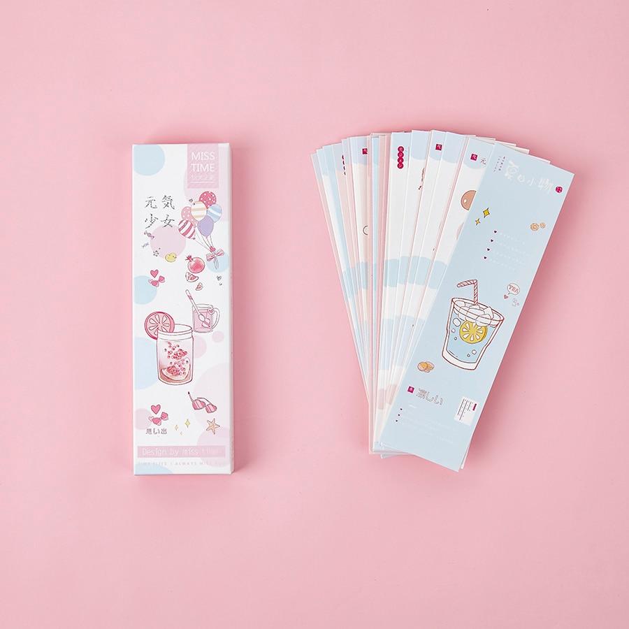 Mohamm 30pcs Cute Kawaii Paper Bookmark Cartoon Animals Irregular For Novelty Book Reading Maker Page Paper Bookmark