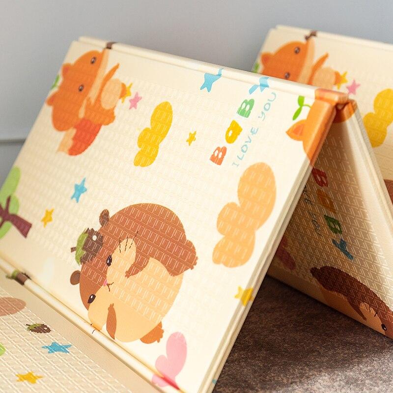 Tapis de route XPE pour enfants enfants grand tapis rampant épaissi tapis de mousse de bébé Puzzle tapis imperméable pliable Pad couverture de jeu - 3