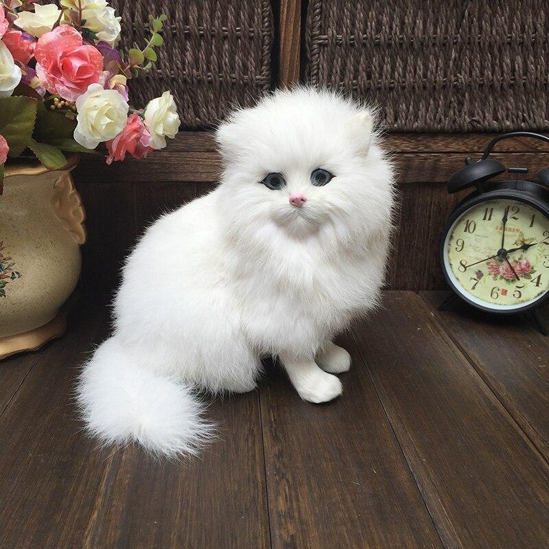 Peluche animaux en peluche modèles de chats réalistes catkids jouets cognitifs poupées de chat réalistes enfants cadeaux décorationAnimaux en peluche   -