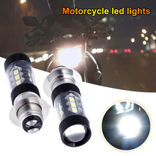 2PCS H6 3030 80W p15d LED Motorcycle Headlight Bulb Motorcycle Modified Headlight Fog Light Black Cover Motorcycle Accessories