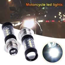 Ampoule de phare de moto LED, phare modifié, antibrouillard, couverture noire, accessoires, 2 pièces, H6 3030 80W p15d