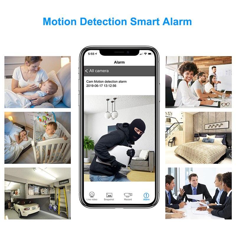 Full HD 1080 Wifi часы мини камера ночного видения P2P IP секретная камера Обнаружение движения микро DVR камера беспроводная безопасность мини камера - 5