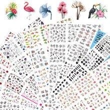 12 desenhos adesivos para unhas conjunto misto floral geométrico sexy menina arte do prego decalques de transferência de água tatuagens sliders manicure