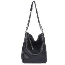 2021 New Large-capacity Simple Style Commuter Chain Bag Rivet Punk Rock Style Shoulder Bag Portable Female Bag
