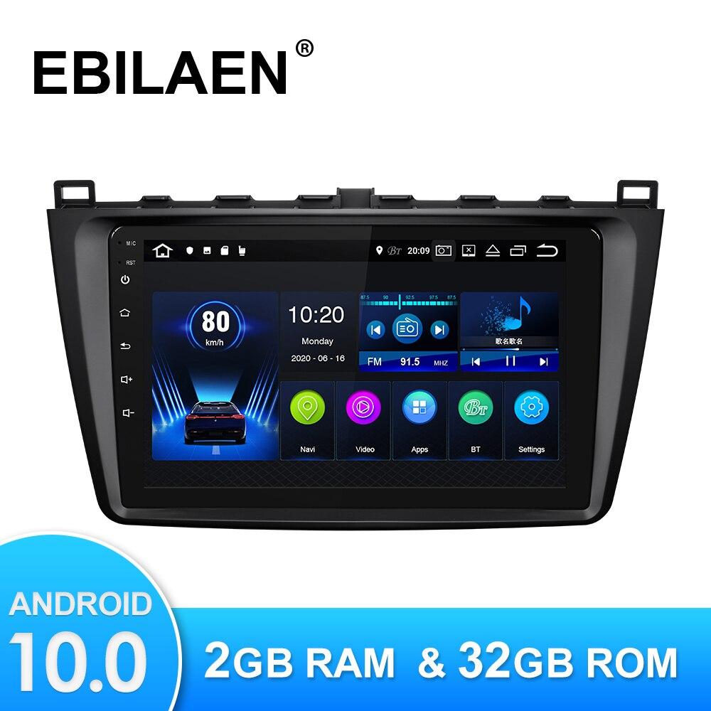 Автомагнитола на Android 10,0, мультимедийный плеер для Mazda 6 GH 2007-2012, Авторадио с GPS-навигацией, камерой, Wi-Fi, IPS экраном, стерео, RDS