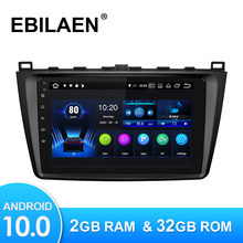 Android 10,0 Car Radio reproductor Multimedia para Mazda 6 GH 2007-2012 Autoradio GPS Cámara de Navegación WIFI IPS pantalla RDS ESTÉREO
