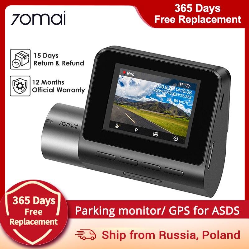 70mai A500 Pro Dash Cam Видеорегистраторы для автомобилей Английский Голос 1944P ночное версия плотно прилегающие к уху, супер чистый дополнительный GPS ...