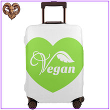 Groene Vegan Hart Reizen Accessoires Protector Bagage Cover Voyage Accessoire Bagage Pouch Tag 2020 Grappig Ontwerp Nieuwe Diy Tag(China)