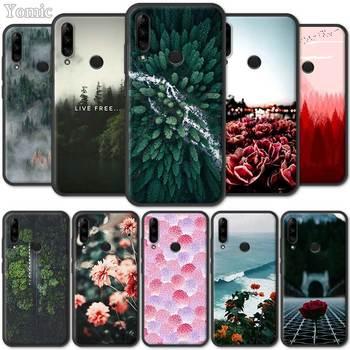 Перейти на Алиэкспресс и купить Черный силиконовый чехол для Lenovo K10 Plus A6 Note Z6 Pro 5G Lite Yout TPU Мягкий мобильный телефон, чехол, летний цветочный лист, роза любовь