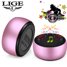 LIGE Mini Bluetooth 3D Speaker Portable Wireless Real Subwoofer Fabric