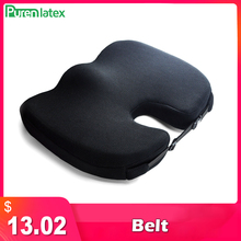 PurenLatex Non slip Seat Cushion Memory Foam Buttock Orthopedic Pillow Breathable Adjustable Chair Pad for Tailbone Pain Relief