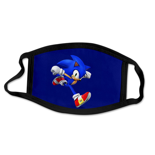 Super Sonic The Hedgehog  Mask Windproof And Dustproof 3D Printing Washable Cartoon Mask For Children And Adults Cosplay Costume