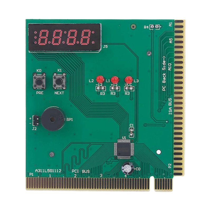 4-Digit Card Pc Analyzer Computer Diagnostic Motherboard Post Tester For Pci Isa Power On Self Test Card