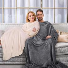 Soft WARM Comfy Plush TV Hooded ผ้าห่มเสื้อกันหนาวขนแกะโยนผ้าห่มสำหรับผู้ใหญ่ผู้หญิงผู้ชายเด็กถ่วงน้ำหนักผ้าห่ม