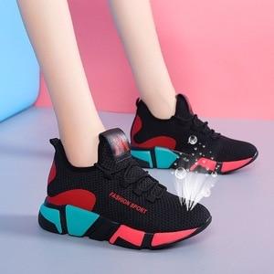 Image 5 - 2020 새로운 여성 신발 플랫 패션 캐주얼 숙 녀 신발 여자 레이스 업 통풍 여성 플랫폼 스 니 커 즈 Zapatillas Mujer 8 2