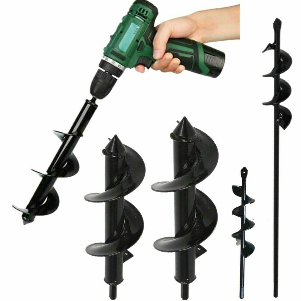 Garden Planter Spiral Drill Bit Flower Bulb Hex Shaft Auger Yard Gardening Bedding Planting Post Hole Digger Tools