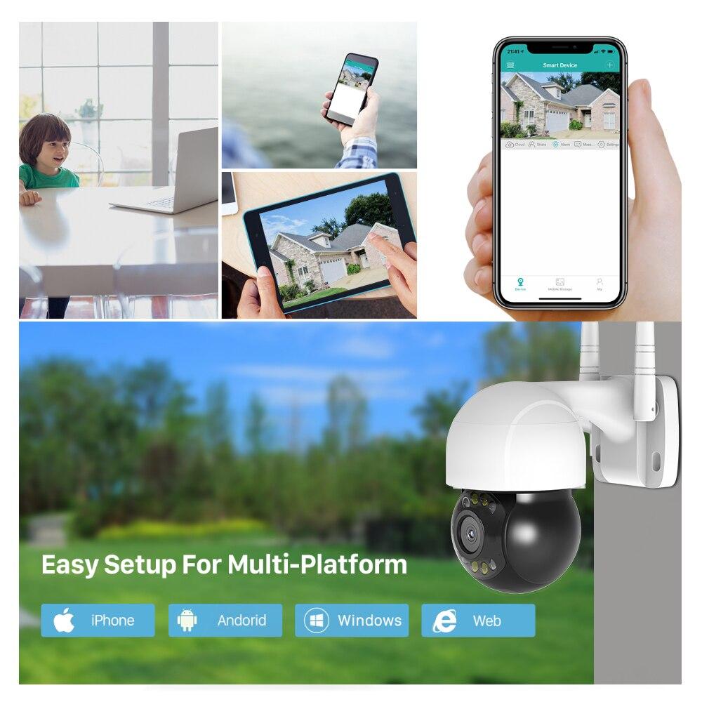 cheapest FEISDA 5MP PTZ Wifi IP Camera Outdoor AI Human  Wireless Camera ONVIF Audio 2MP 3MP Smart Light Security CCTV Camera