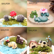 Resin Model Terrarium-Figurines Miniature Fairy Animals Elephant Frog Duck BAIUFOR Hedgehog