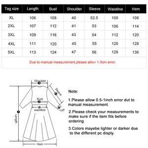Image 5 - MK 2019 冬の女性のプラスサイズのデニムドレスファッションレディースヴィンテージ長袖秋ミディドレス