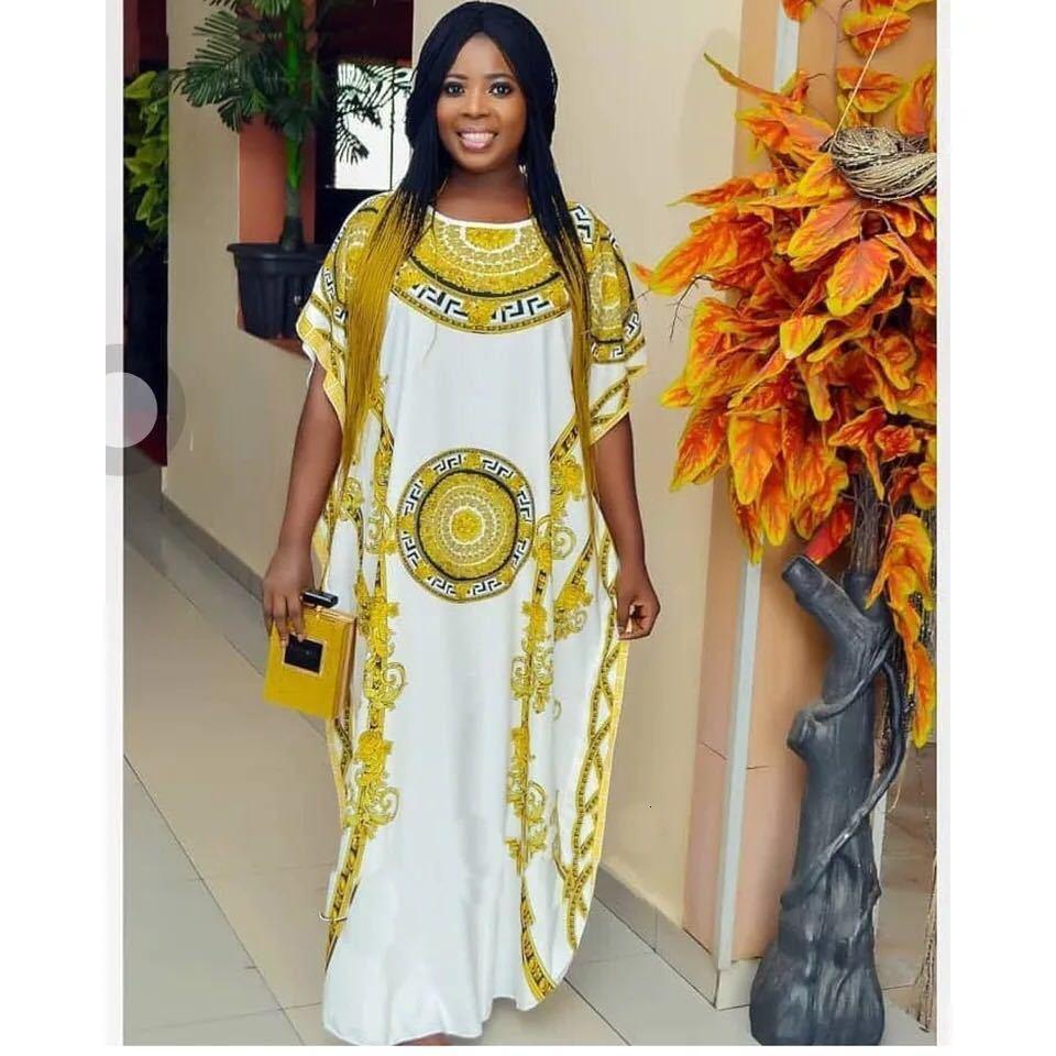 African Design Print Abaya Dashiki Dress Loose Bat Cape Muslim Bazin Long Maxi Robe Gowns Africa Dashiki Traditional