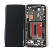 """Оригинальный Axisinternational для 6,67 """"OnePlus 7 Pro One Plus 7 Pro AMOLED ЖК-дисплей   сенсорная панель дигитайзер с рамкой"""