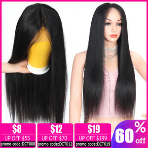 Wig Human-Hair Lace-Front Glueless Black Straight Women Brazilian Non-Remy Bob for 150%Density