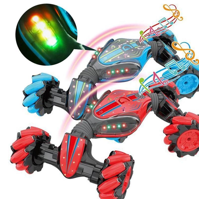 Global Funhood Gw124 Car Watch Remote Control Stunt Rc Car Gesture Sensing Twisting Vehicle Drift Car Children Driving Toy Gifts