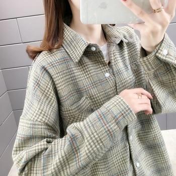 In room 156583, 8 row 2 】 to film a new plaid shirt pocket shirt 45 6