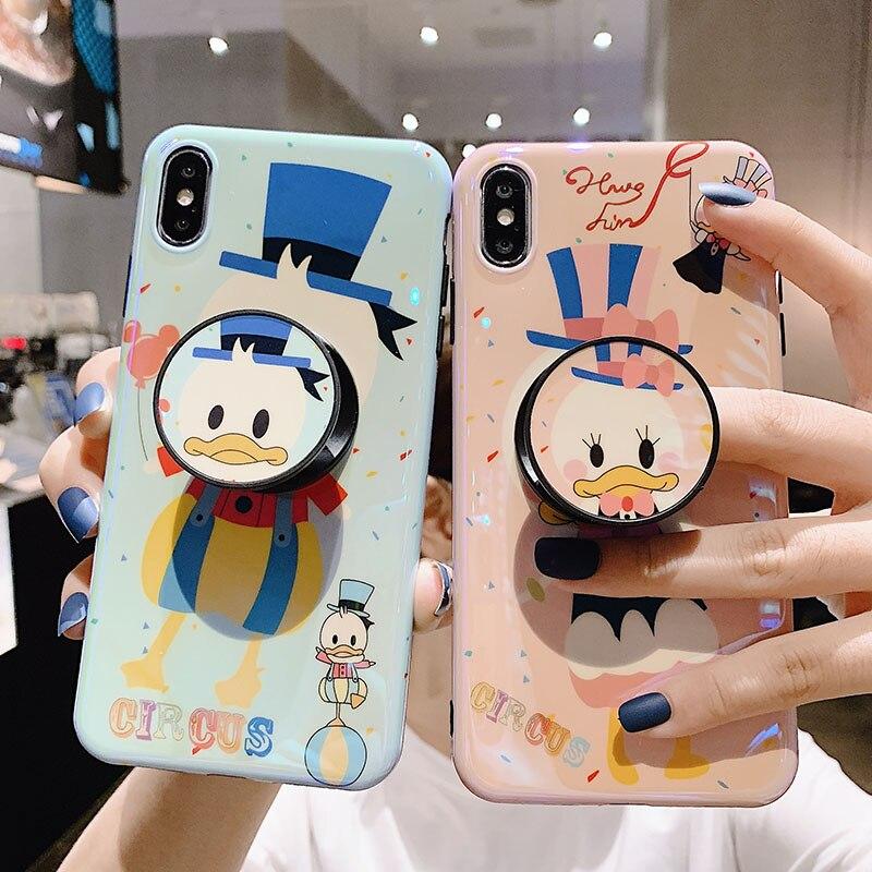 Funda transparente de dibujos animados Mickey para iphone 11 11Pro