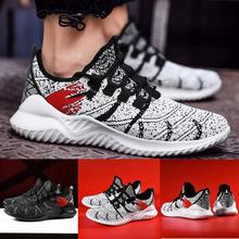 Mens Sneakers Outdoor Mesh Casual Sport Shoes Lace-Up Breathable Mountaineering Running