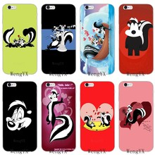 cute animal Pepe Le Pew cover case For iPhone 11 Pro XS Max XR Samsung Galaxy Note 9 10 S10E S10 lite Plus M30(China)