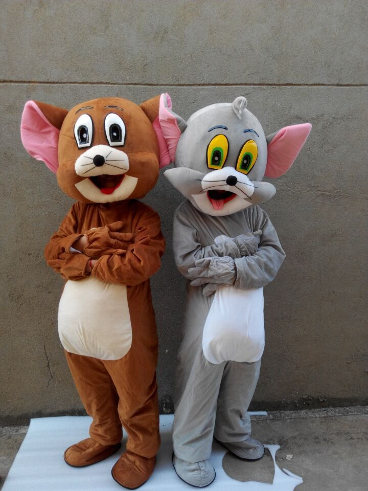 [TML] Cosplay Cat and mouse Cartoon character costume Mascot Costume Advertising Costume Party Costume Animal carnival toy