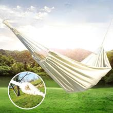 Double Hammock Rollover Prevention Camping Canvas Fabric  Hammock Hanging Hammock Patio Bed Travel Hiking