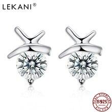 Lekani 925 стерлингового серебра серьги Настоящее серебро для