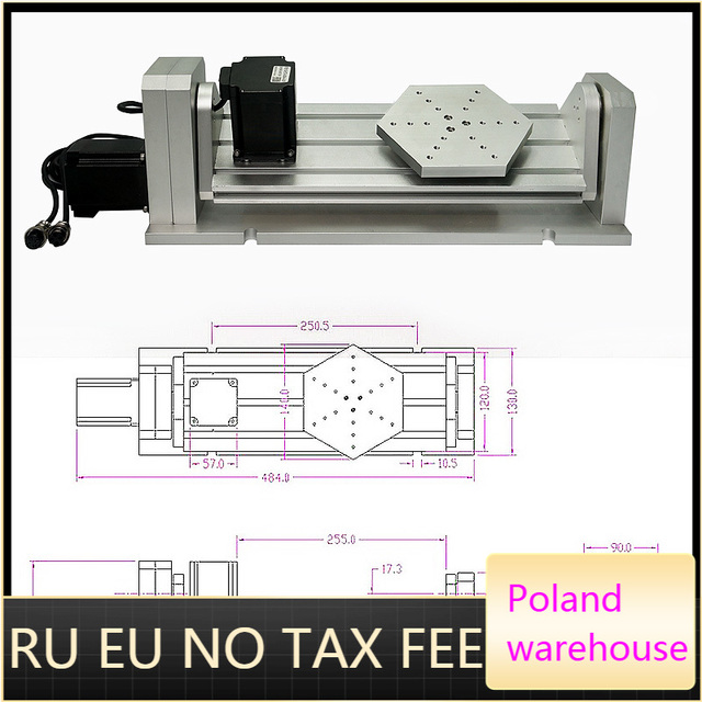 CNC 4th 5th Axis Rotary Axis For CNC Router A Axis Plate Type With Nema23 Stepper Motor Woodworking CNC Miling Engraving Machine