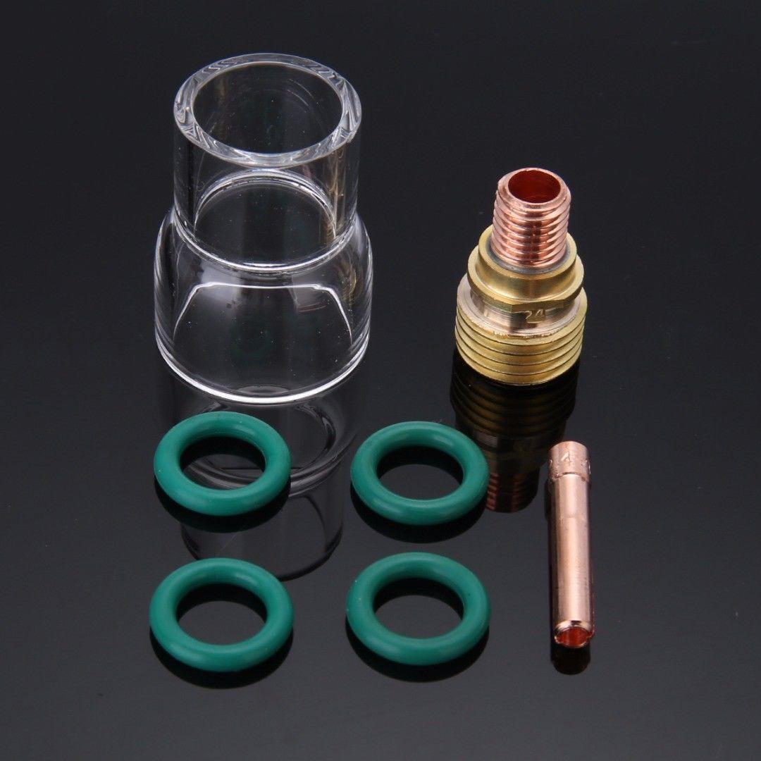 Комплект #12 чашка из пирексного стекла подходит для WP-9/20/25 серия TIG сварочный фонарь газовый объектив 7X Новый