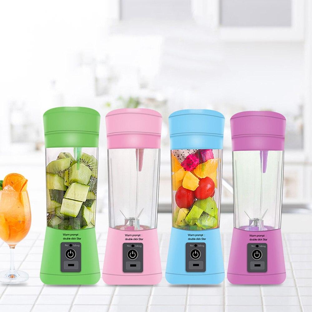 400mlportable Blender Usb Mixer Electric Juicer Machine Smoothie Blender Mini Food Processor Personal Blender Cup Juice Blenders