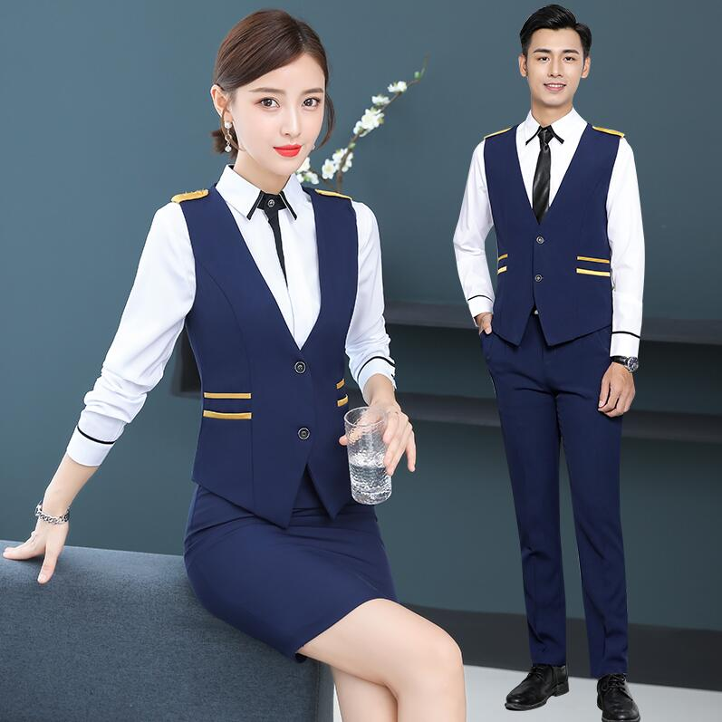 High Qualitly Hotel Work Sales Department Work Suit  Jewelry Store Customer Service  Beautician Front Desk Work Clothes