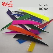 New 100pcs  5 Shield Cut Fletchings Arrow Feathers Turkey Feather Archery Accessories Handcraft Fletches