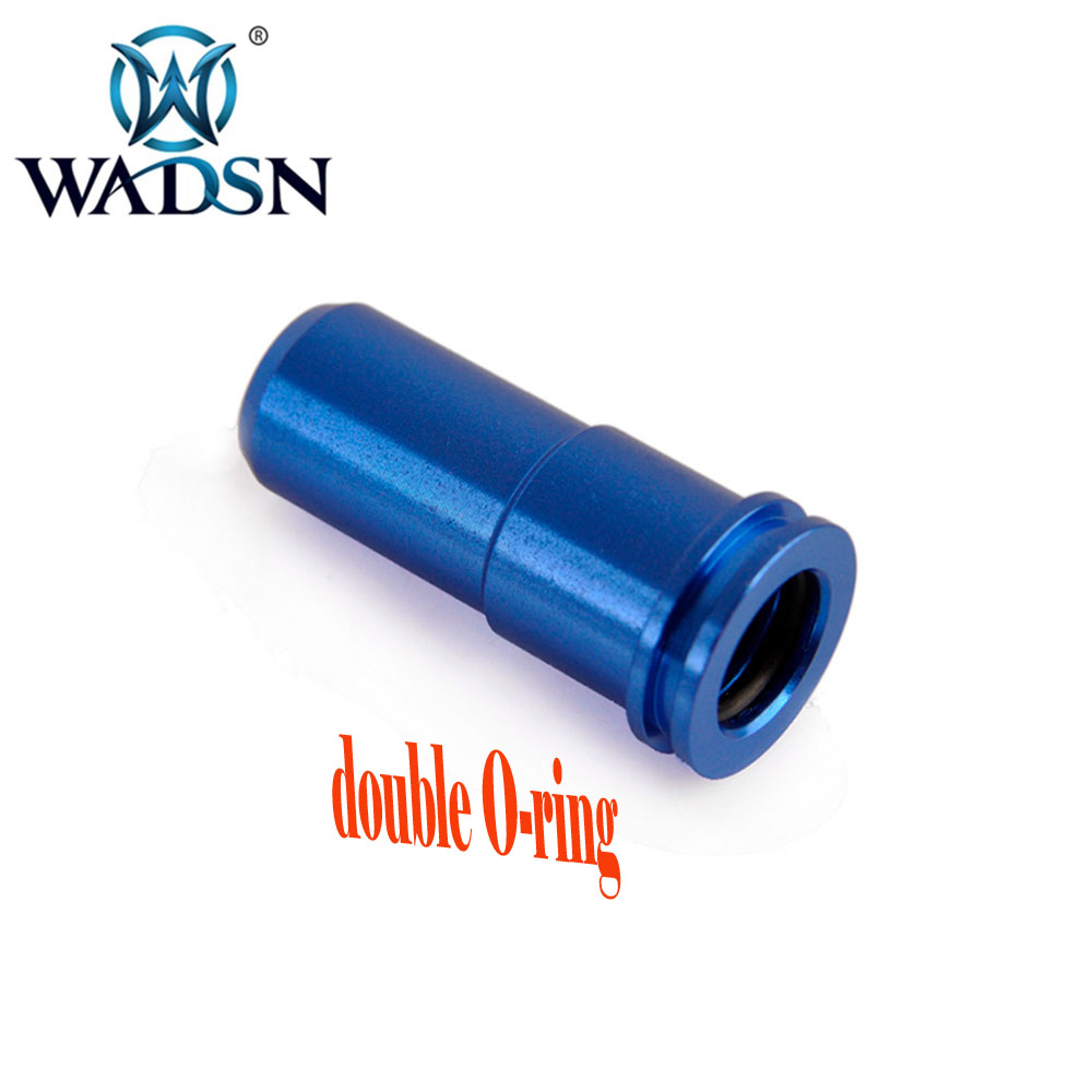 WADSN Tactical High CNC Aluminum Double O-ring Air Seal Nozzle For AK Series Airsoft AEG Shooting Paintball Accessories FB01002