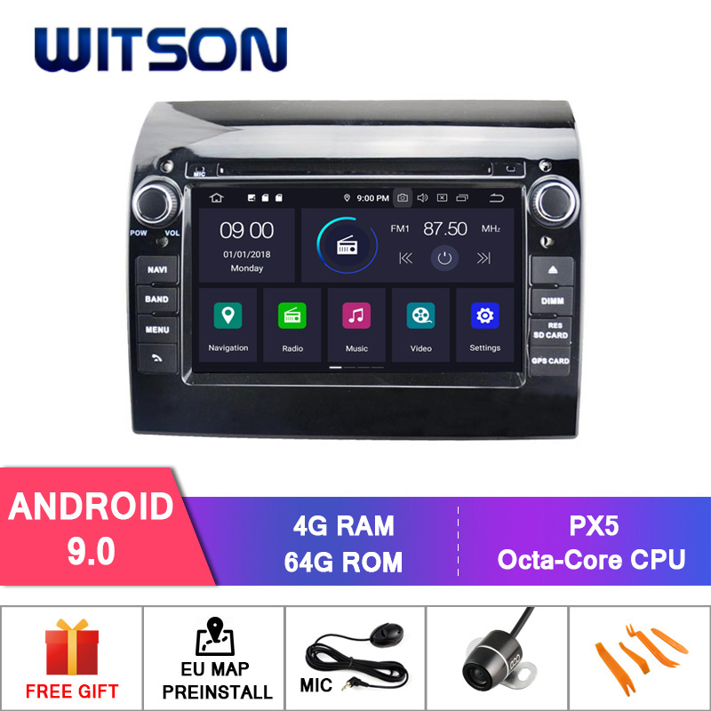 WITSON Android 9.0 IPS HD Screen for FIAT DUCATO CAR DVD GPS RADIO STEREO 4GB RAM+64GB FLASH 8 Octa Core+DVR/WIFI+DSP+DAB+OBD