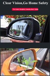 Image 3 - 2 pièces/ensemble pour voiture étanche à la pluie Anti brouillard voiture autocollant voiture miroir fenêtre Film transparent Anti voiture voiture accessoires