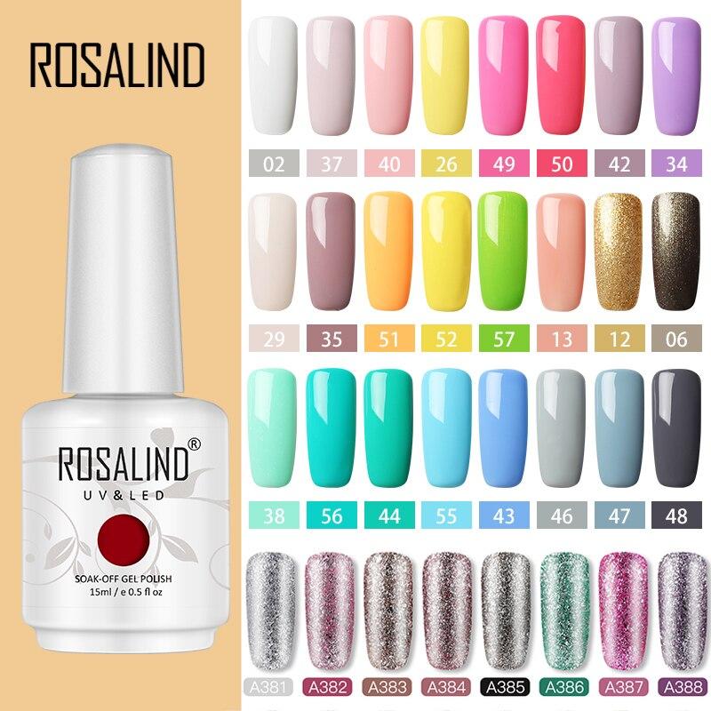 ROSALIND Гель-лак для ногтей гибридные Лаки УФ светодиодный Полупостоянный маникюрный набор для дизайна ногтей основа верхнее покрытие гель дл...