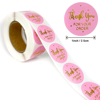Gift Sealing Stickers 500pcs Thank you Love Design Diary Scrapbooking Stickers Festival Birthday Party Gift Decorations Labels 1